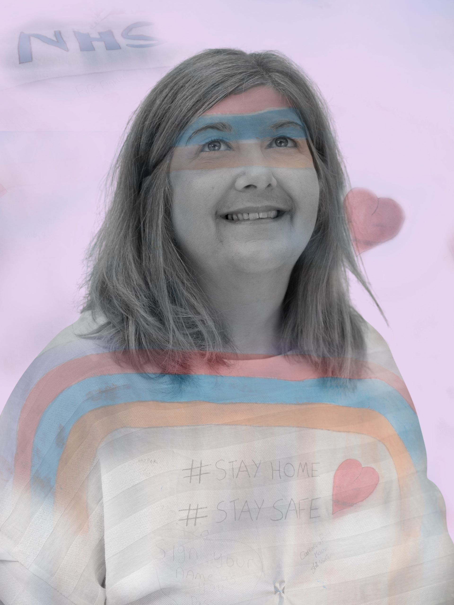 Lady with NHSrainbow